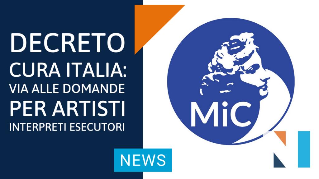 decreto cura italia via alle domande per il contributo destinato ad artisti interpreti esecutori